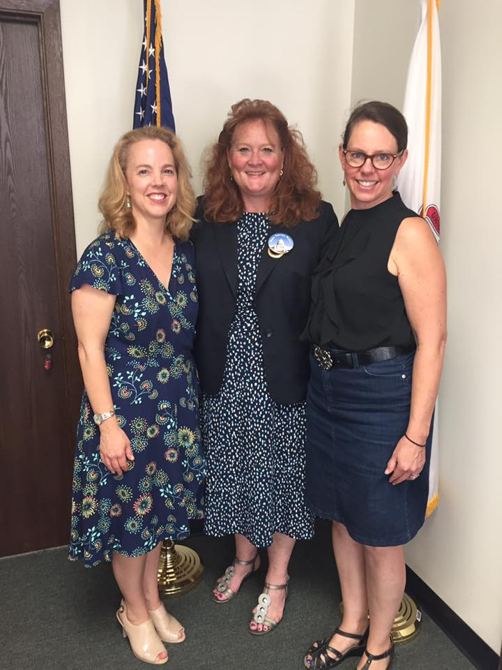 A photo of Illinois State Senator Laura Murphy with task force members Nancy Swanson and Victoria Storm.